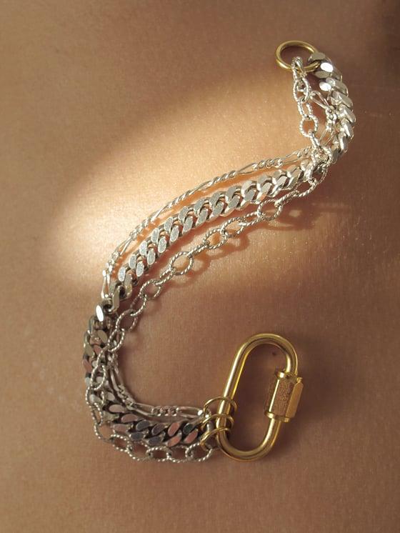 Image of BOUND BRACELET - triple chain