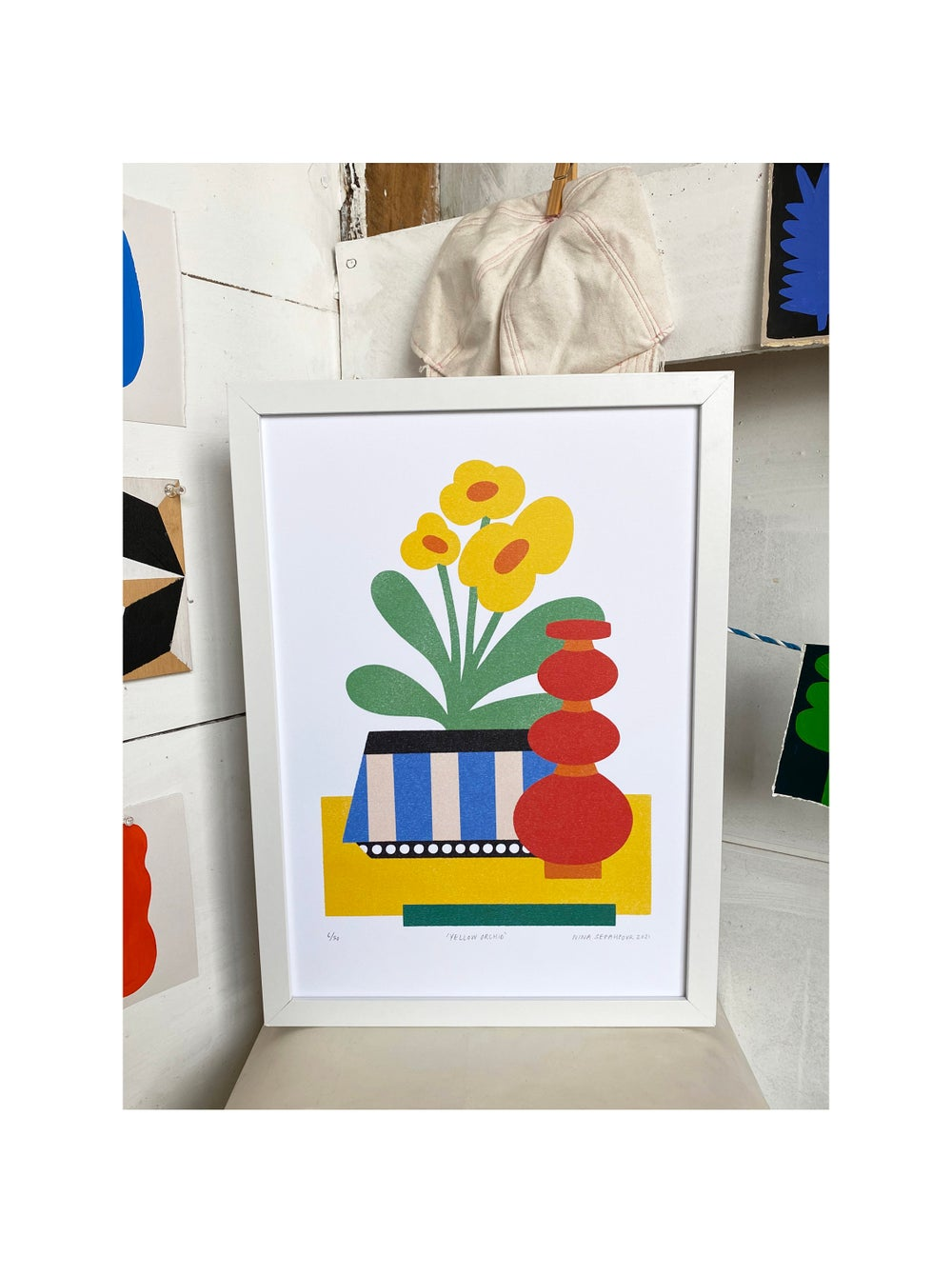 'Yellow Orchid' Print