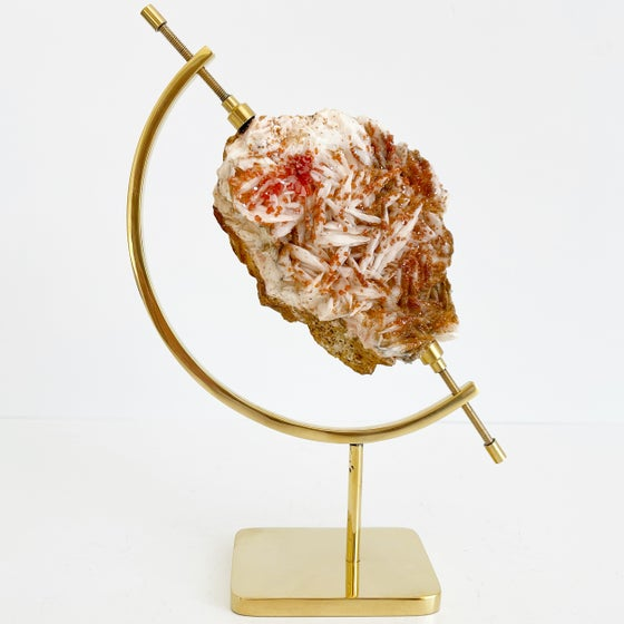 Image of Vanadinite/Barite no.28 + Brass Arc Stand