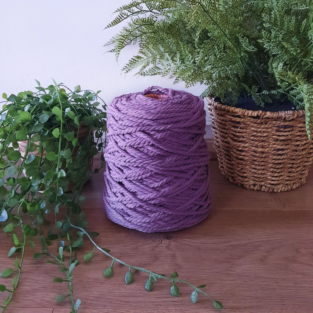 Image of 1kg Amethyst 3ply Rope