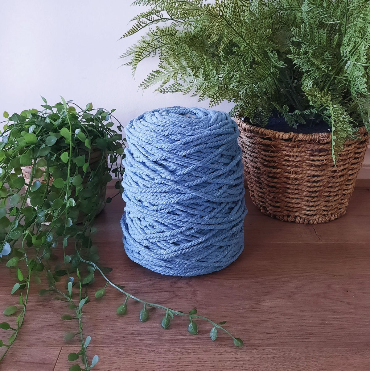 Image of 1kg Dusty Blue 3ply Rope
