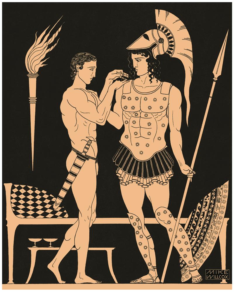 Image of Achilles & Patroclus BW
