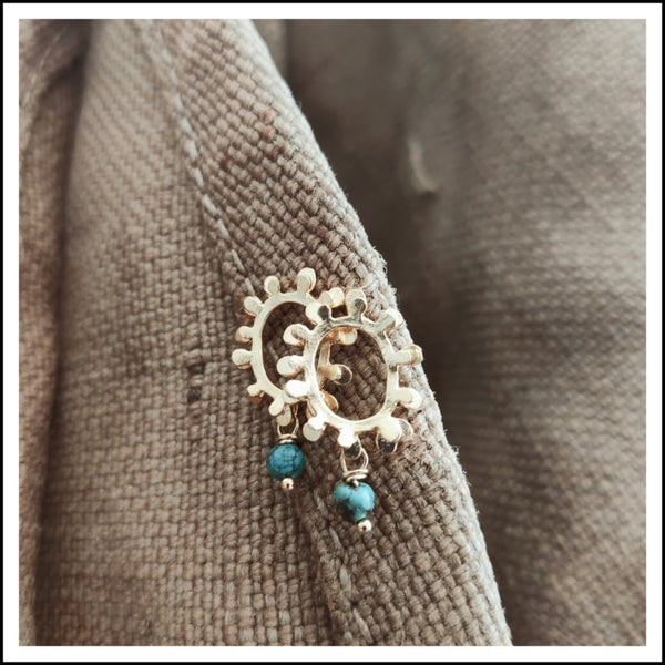 Image of Turquoise Eclipse Studs