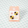 Cookie Stud Earrings - Chocolate Checkerboard