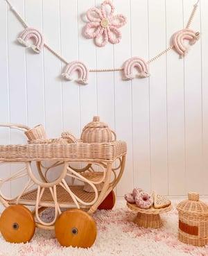 Image of Strawberries & Cream Beaded Rainbow Garland