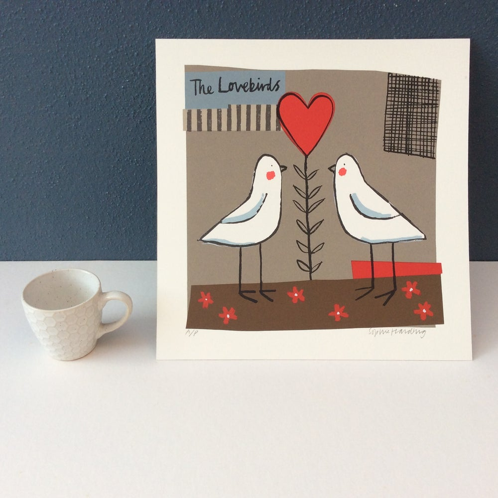 Image of The Lovebirds silk screen print