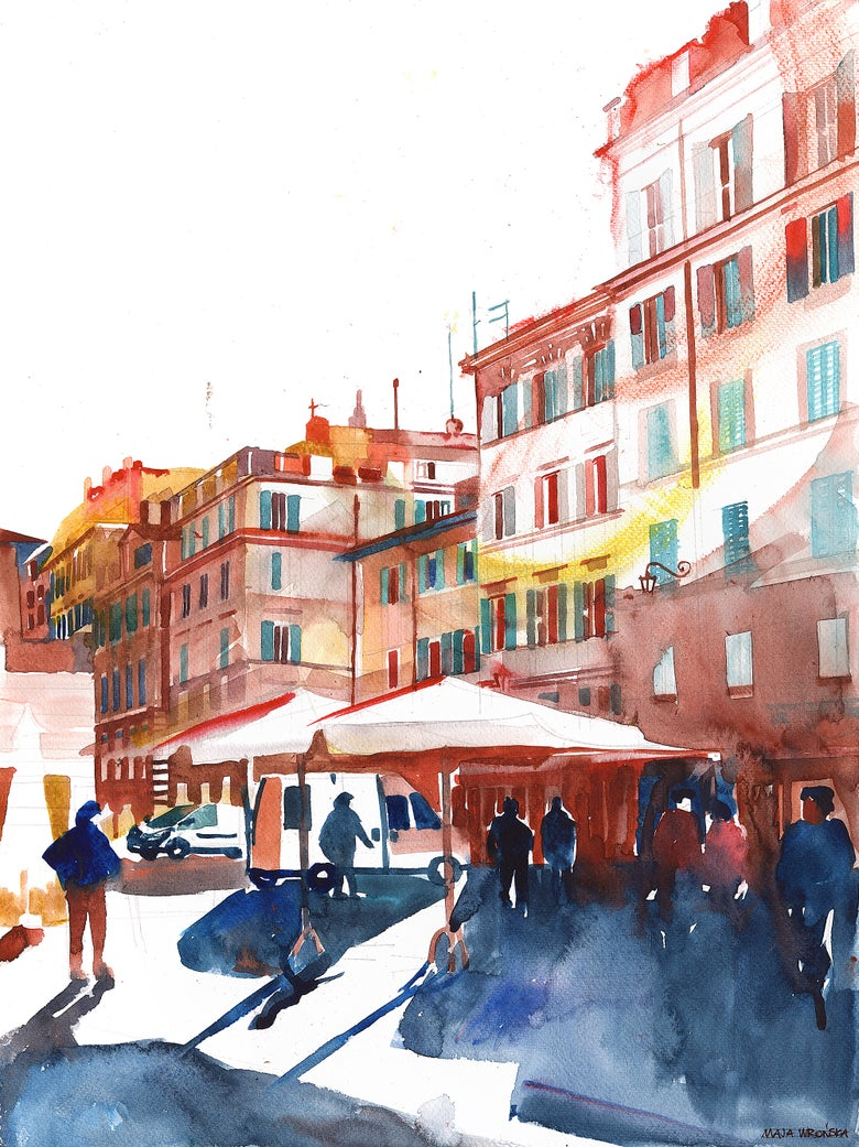 Image of Market at Piazza Campo de'Fiori, Rome