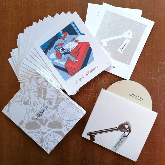 Image of BUNDLE '(dis)amore' CD + '(dis)amore' 23 Mini Art-Prints by Mynameisbri