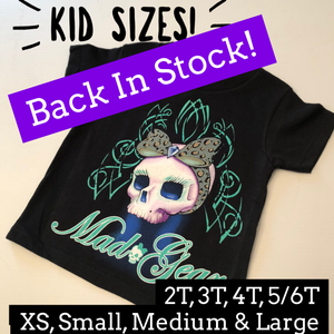 "Image of Kid Sizes- Black T-Shirt ""Marilyn"""