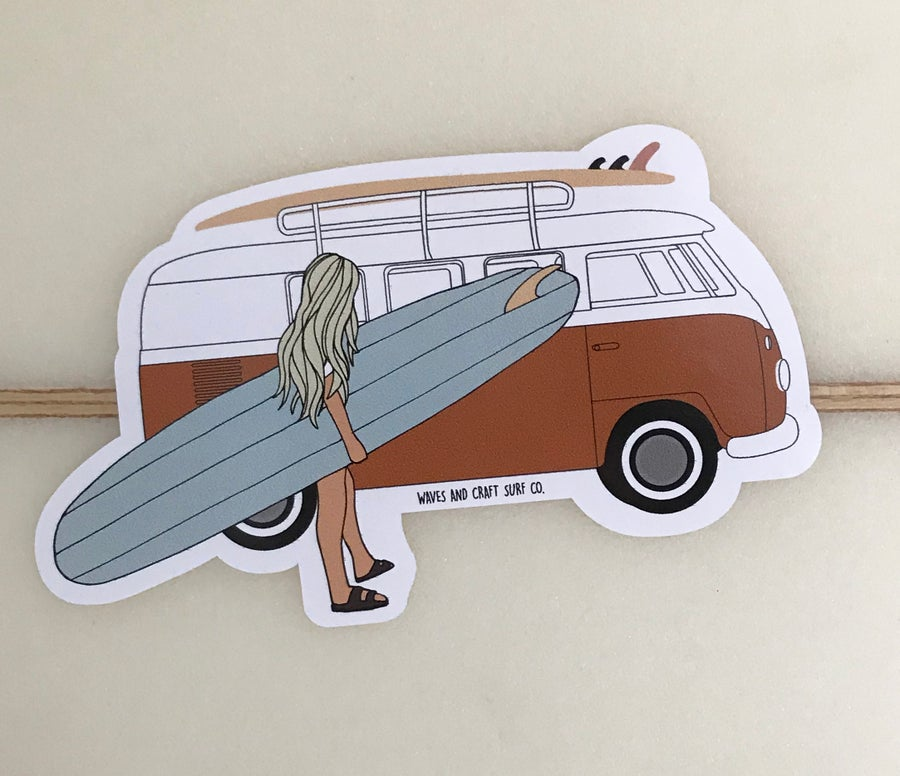 Image of Campervan surf sticker