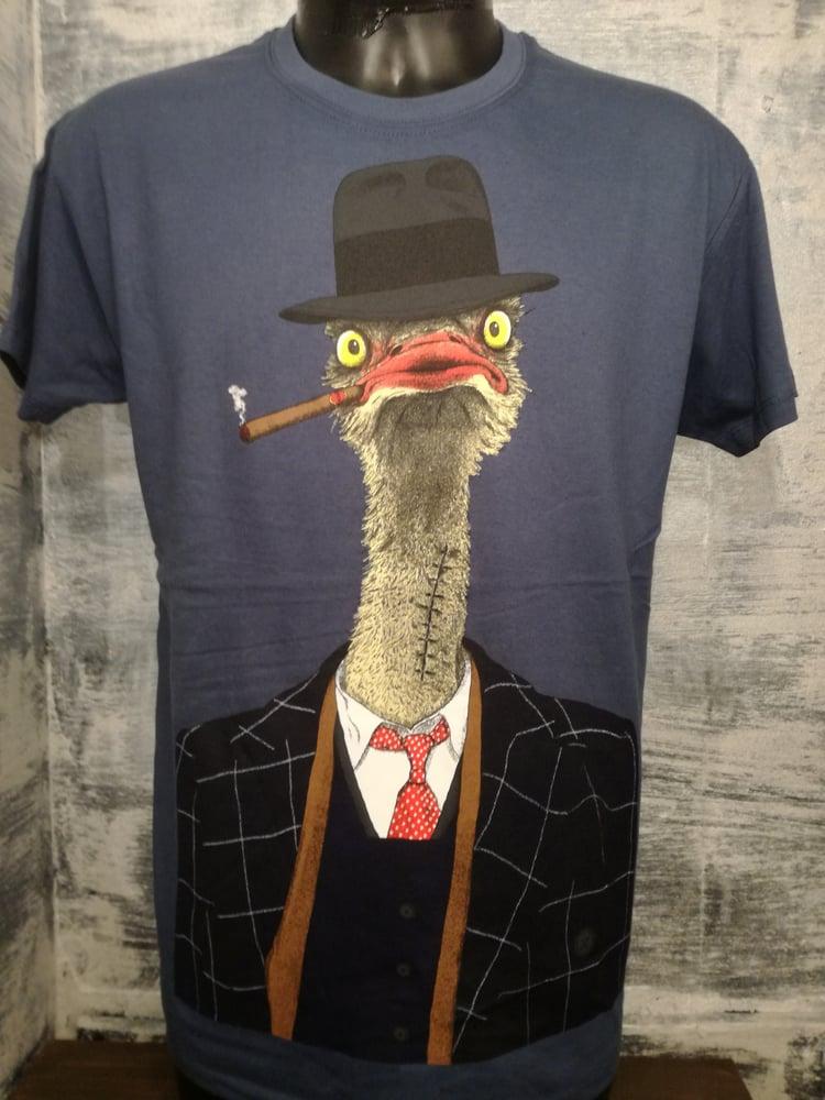 Image of ostrich mafiozo mens t shirt