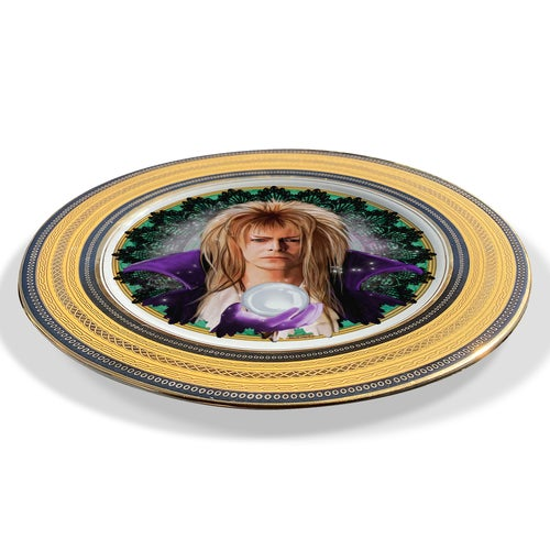 Image of Jareth the Goblin King - Labyrinth-  Vintage fine china Plate - UNIQUE PLATE- #0757