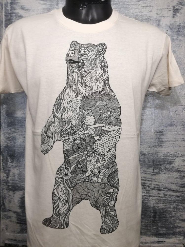 Image of Polar bear pattern t shirt