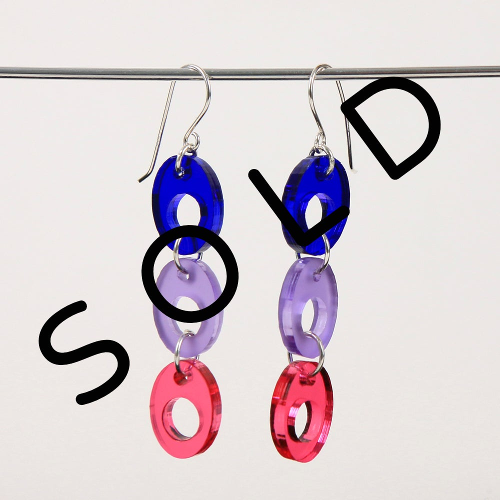 Image of LASERED ACRYLIC EARRINGS LONG