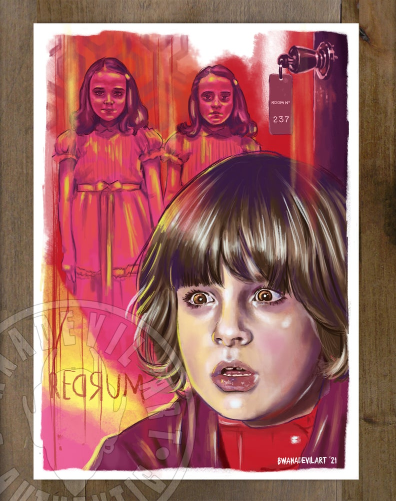 Image of REDRUM The Shining Mini Print  (Stephen King Edition) 5x7 in.
