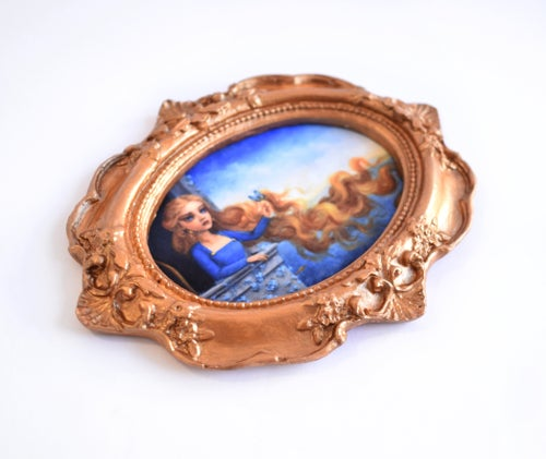 "Image of Miniature framed print ""Rapunzel"""