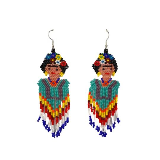 Image of Frida Kahlo beaded earings