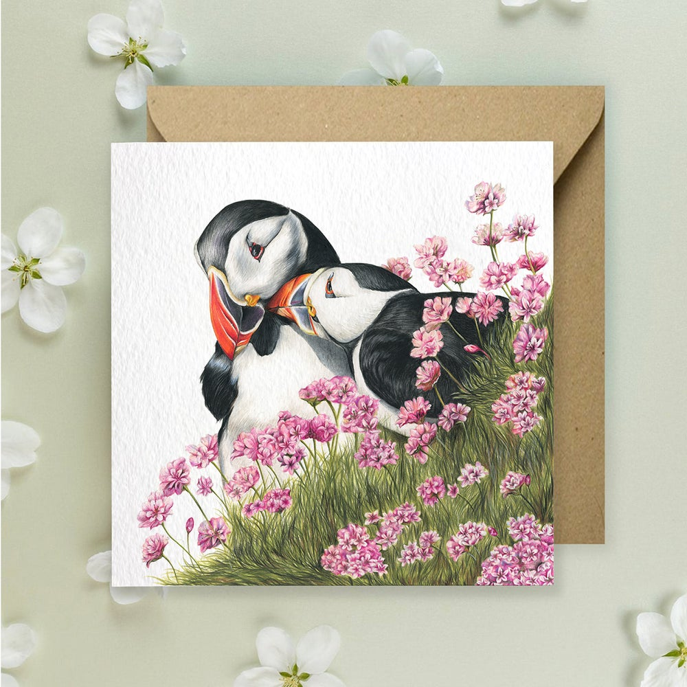 Image of 'Puffins' Greeting Card