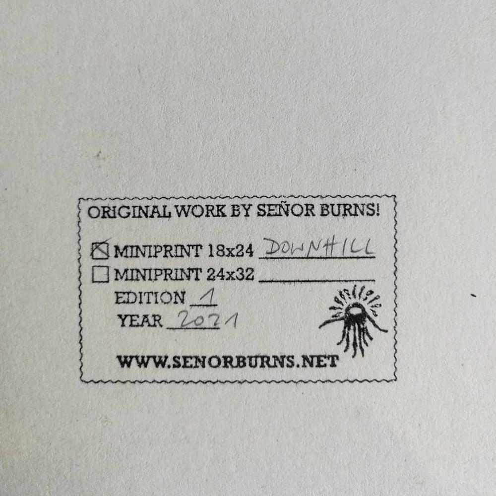 Image of DOWNHILL (mini-print)