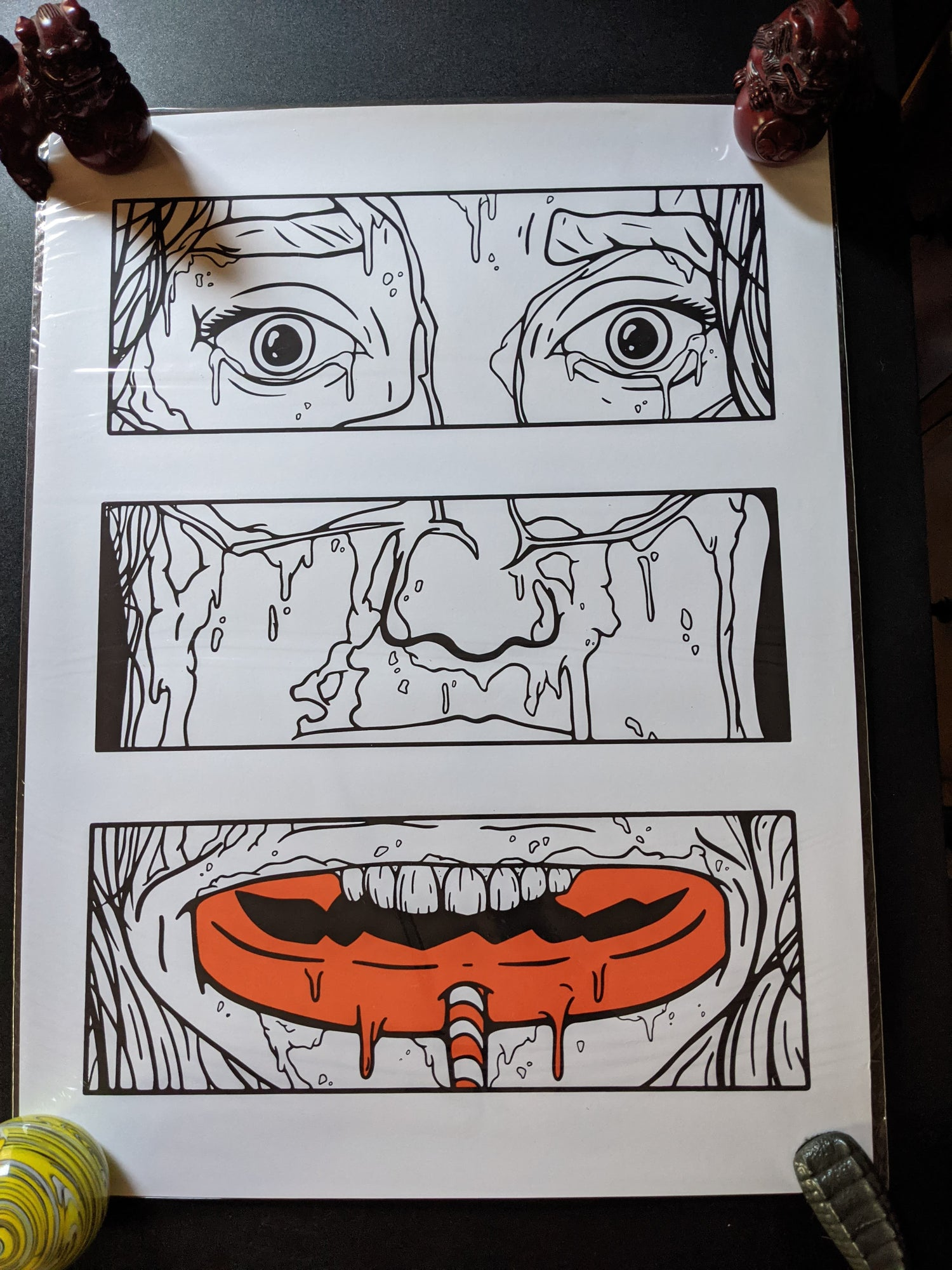 "Image of ""Sam's Revenge"" 18x24"" 2 Color Screen Print"