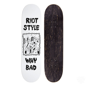 Image of Waybad x Riot Style - No Encore Skateboard Deck (Popsicle / White)