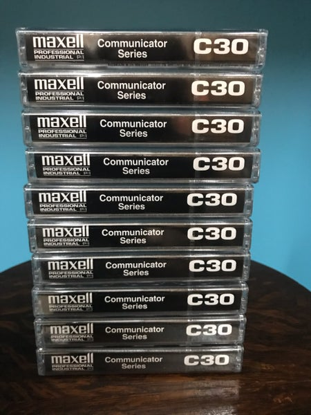 Image of MAXELL COM-30 Professional 30 Minute Normal Bias Audio Cassette (10-Pack)