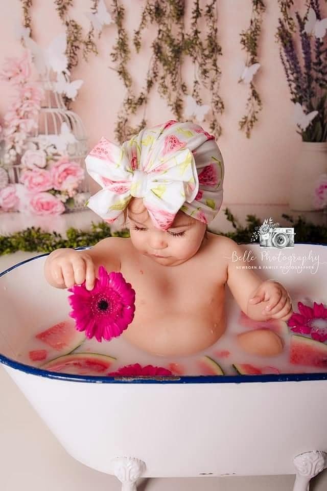 Image of Watermelon bow turban