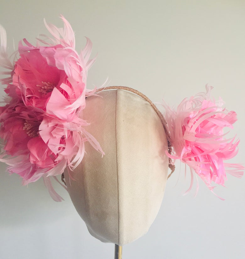 Image of Pink feather headpiece
