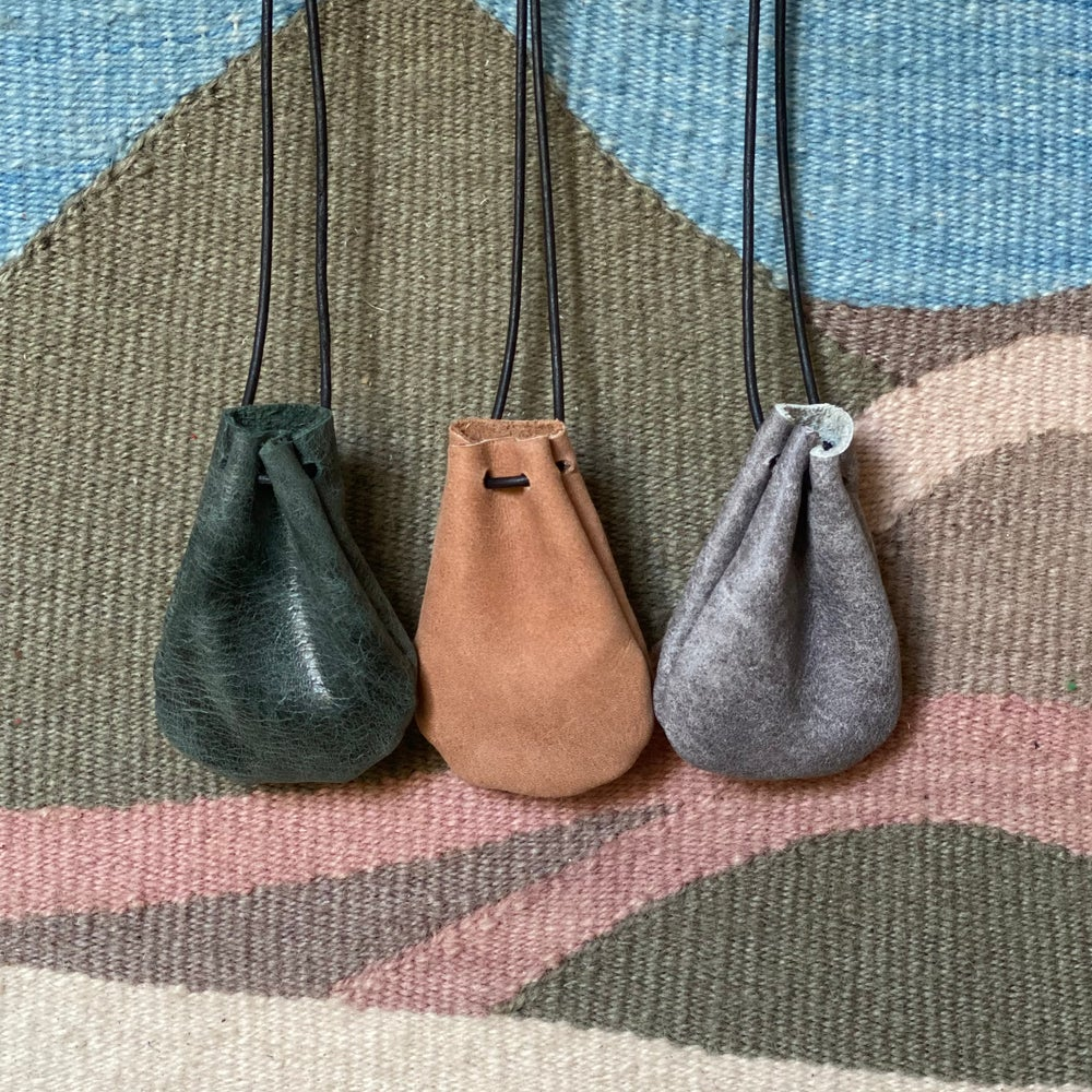 Image of crystal pouch necklaces