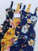 Melrose Flower Dress (Navy)