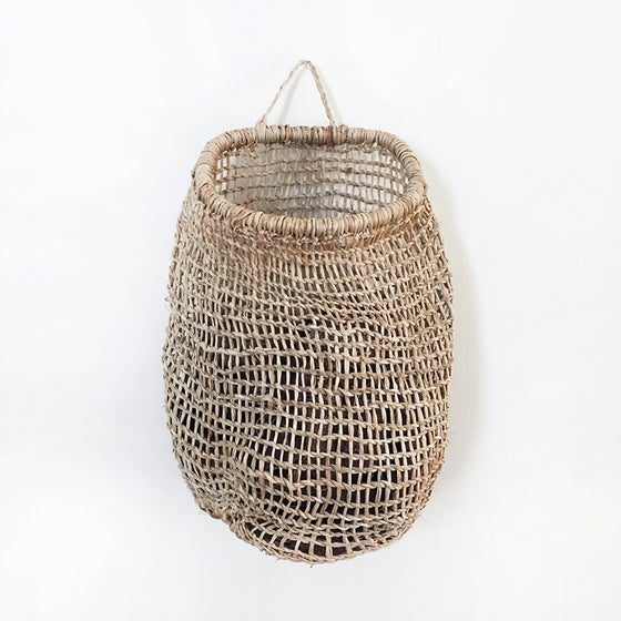 Image of Nido Handwoven Tree Bark Hanging Basket