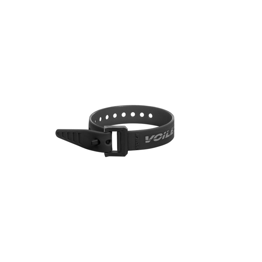 "Image of Voile Straps® 12"" Nylon Buckle — Black/Grey"
