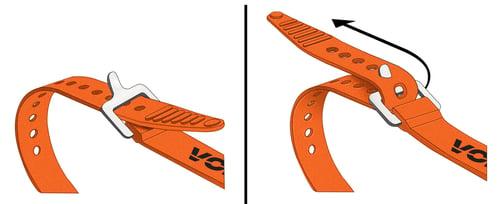 "Image of Voile Straps® 12"" Nylon Buckle — Orange"