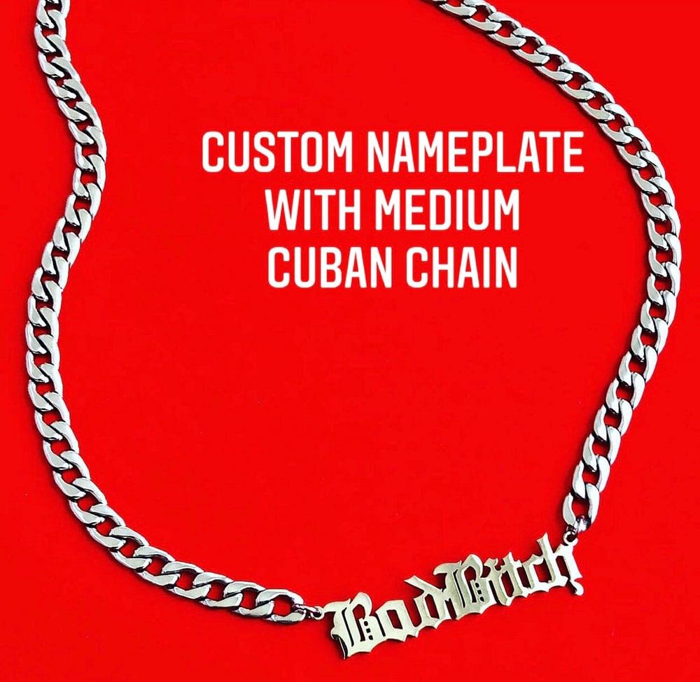 Image of MEDIUM CUBAN CHAIN NAMEPLATE