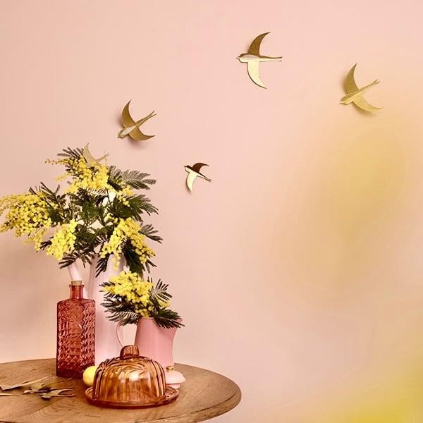 Image of Hirondelles dorées // set de 10