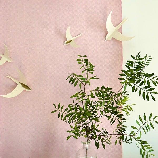 Image of Hirondelles blanc et or // set de 10