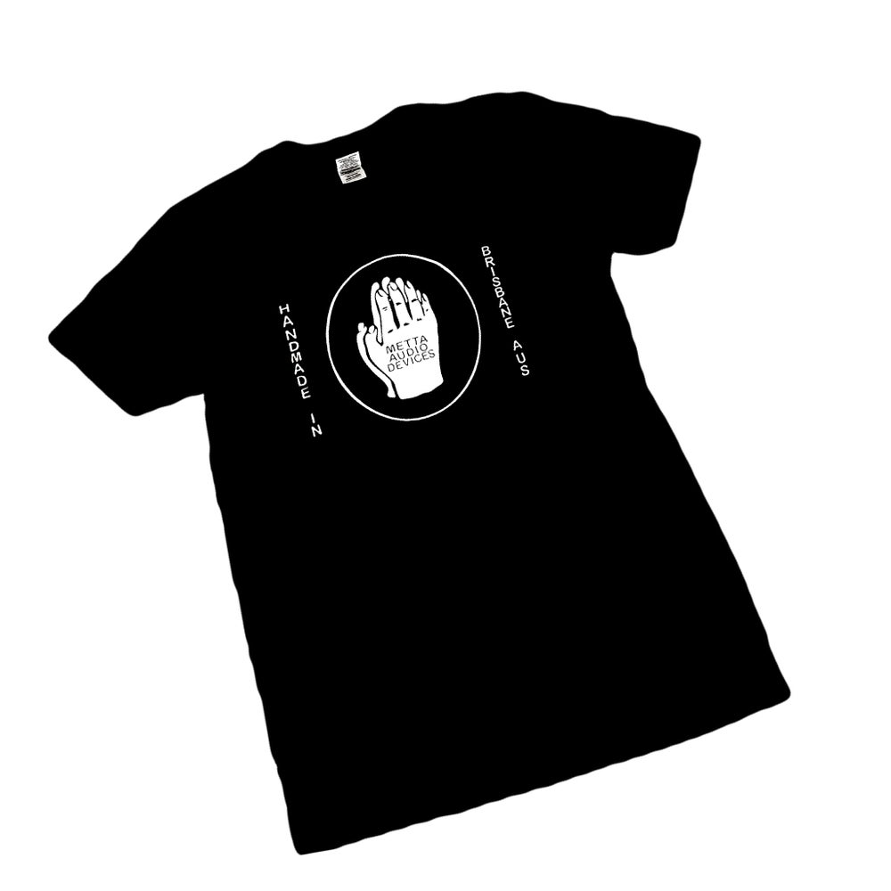 Image of Metta Audio Devices logo T-Shirt Black