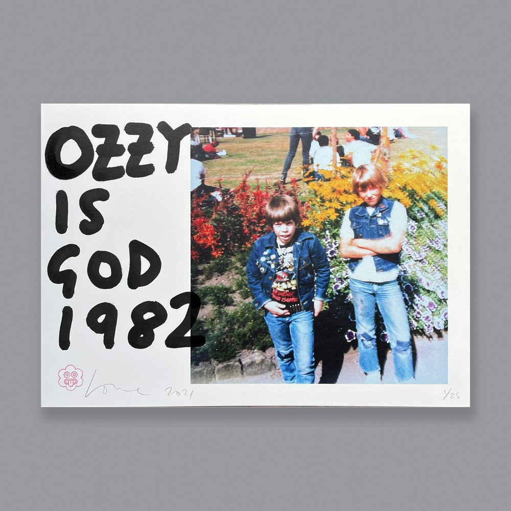 Image of Ozzy Is God 1982 (A3 Limited Edition)