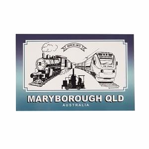 Image of Maryborough Qld. Trains Souvenir Fridge Magnet