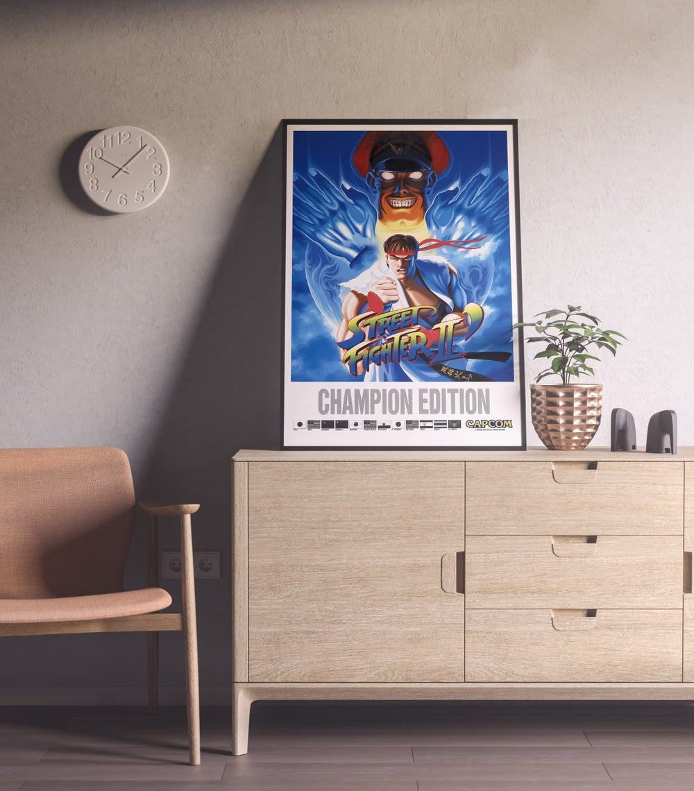 Street Fighter 2 Fighting Game Retro Poster