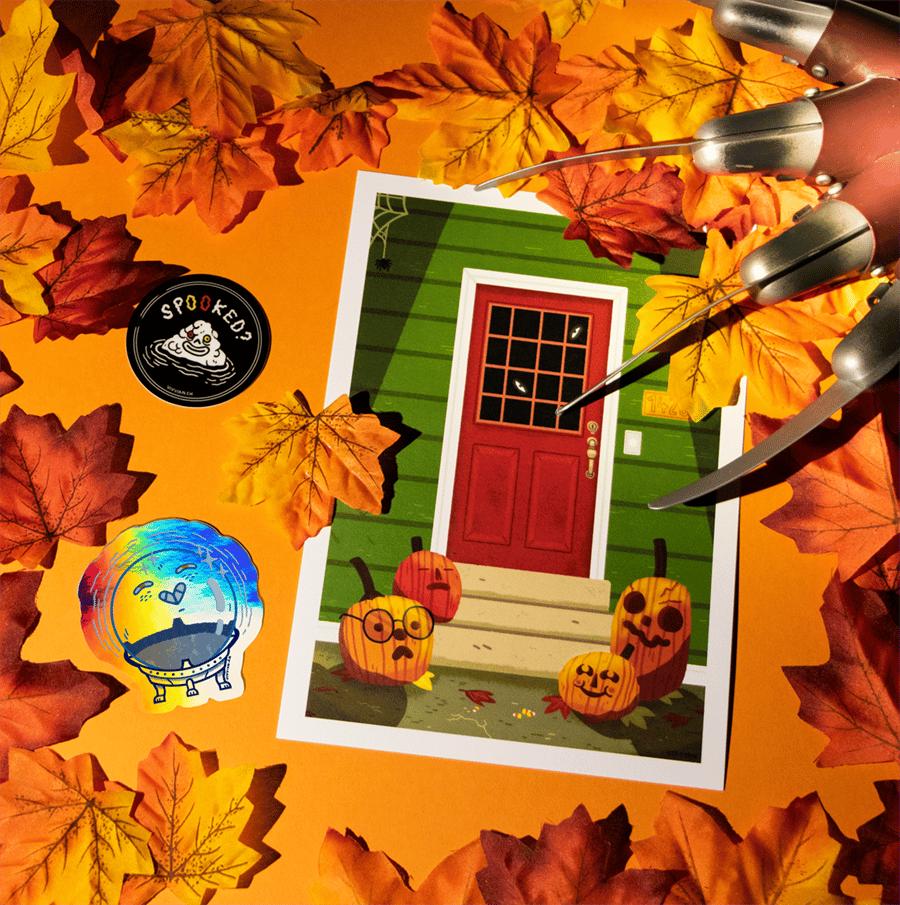 Image of Happy Halloween print