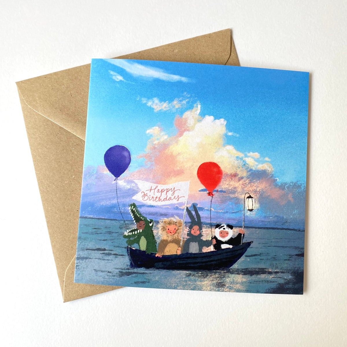 Image of Party People - Set of 4 Luxury Greetings Cards