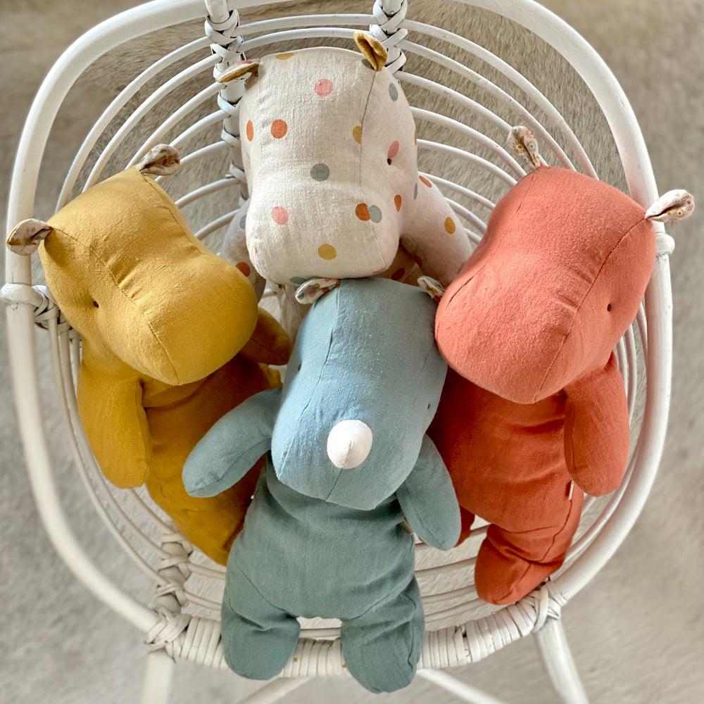 Image of Doudou Hippo ou Rhino medium // 4 couleurs au choix