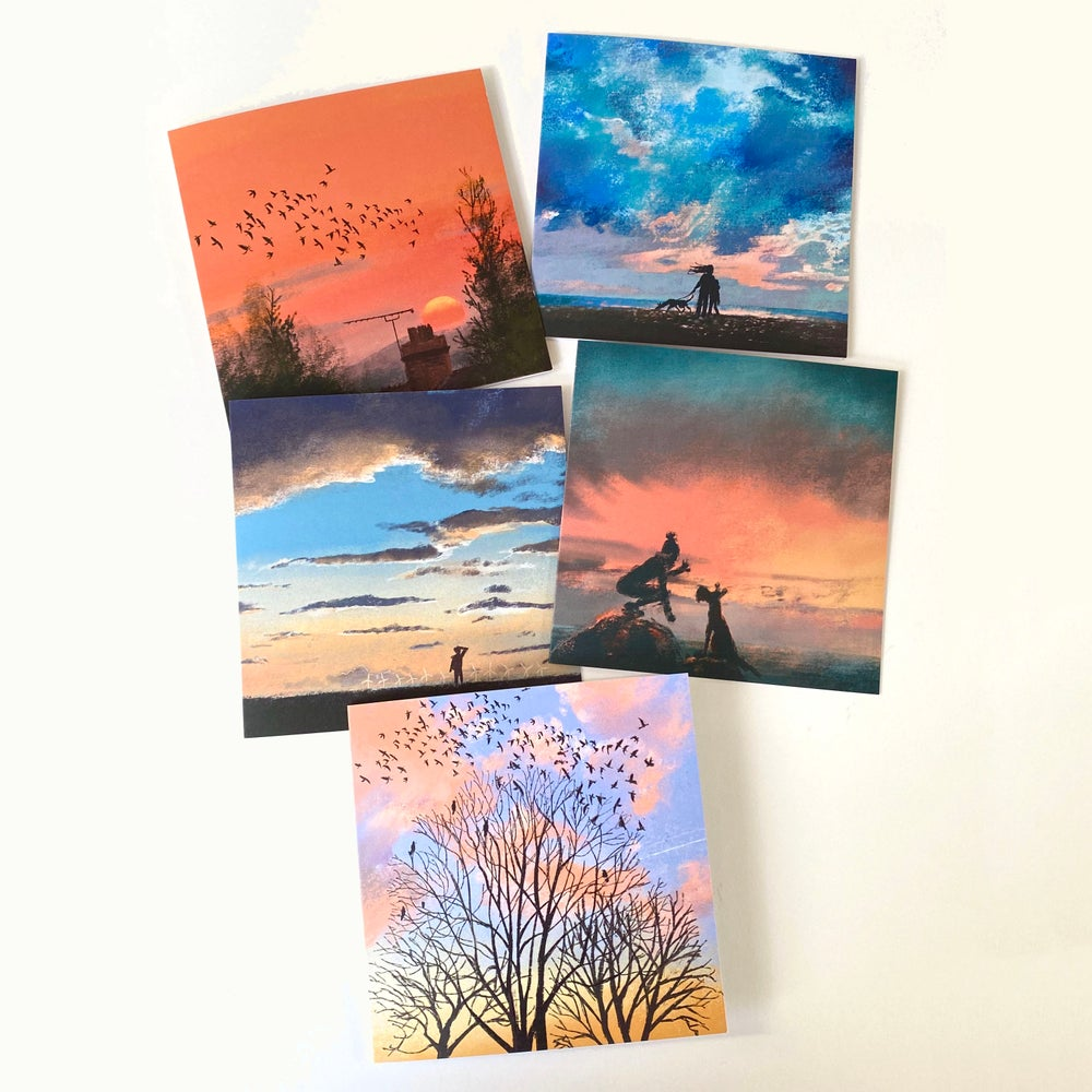 Image of Skies - set of 5 Luxury greetings cards