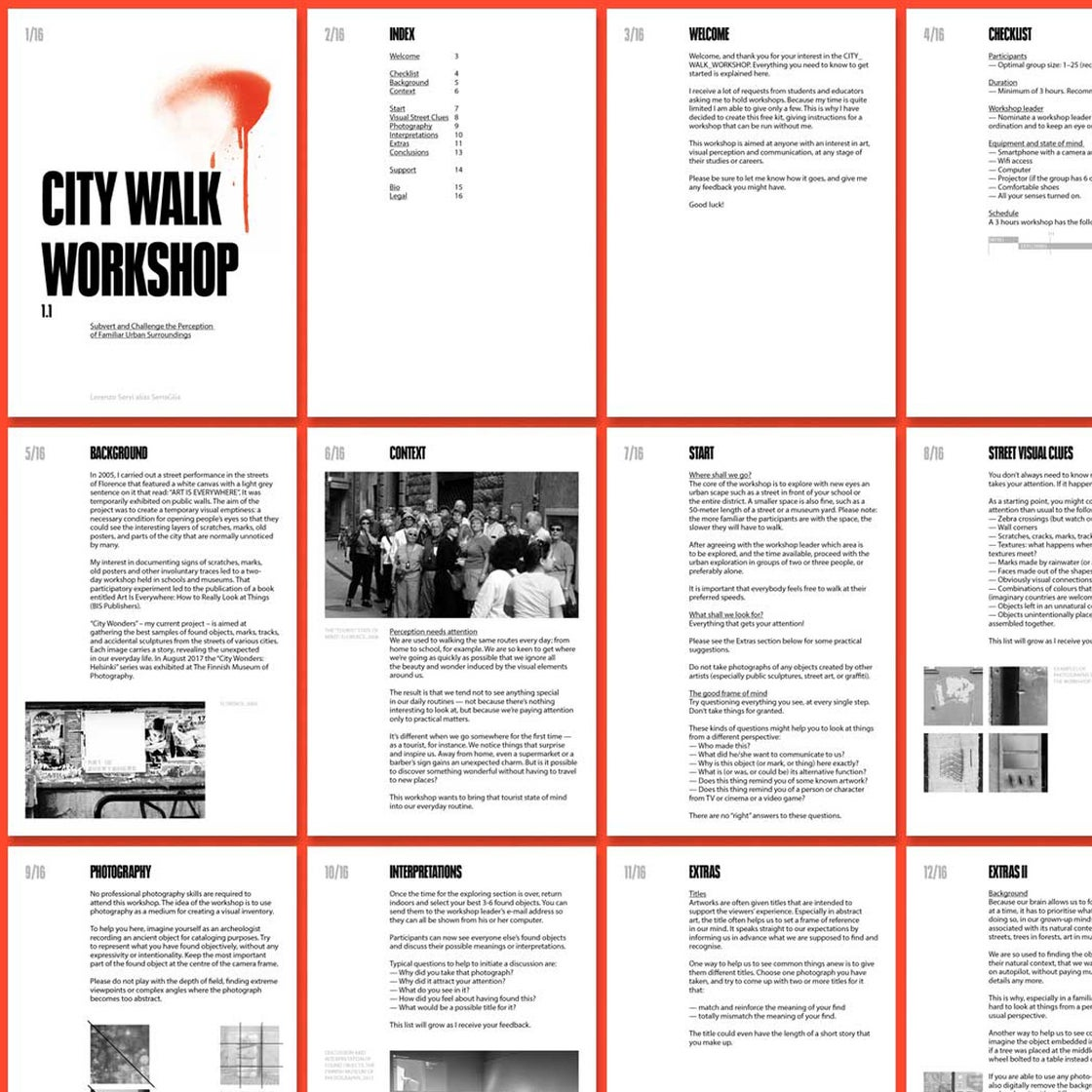 Image of City Walk Workshop - Donations