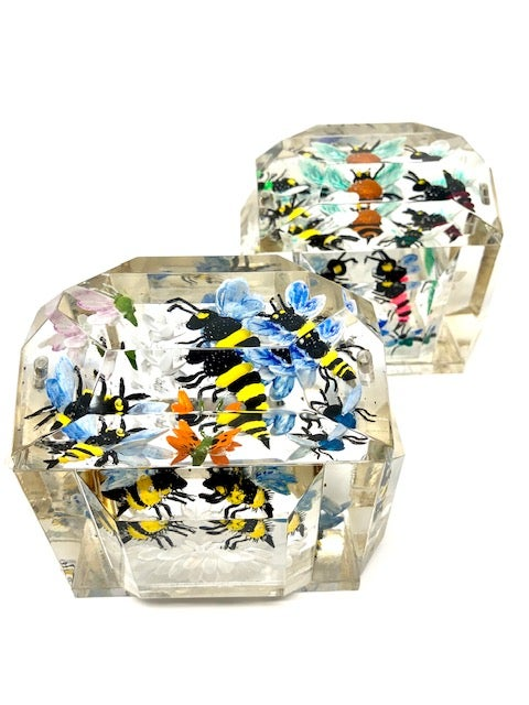 Image of  Mini Victorian Painted Bees Boxes