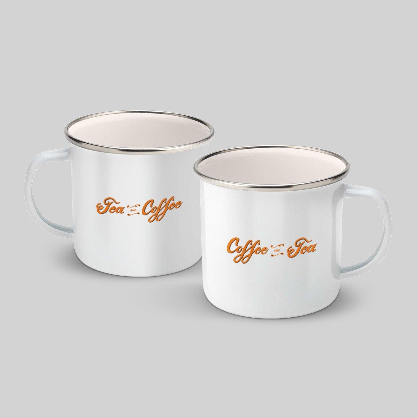 Image of Tea and Coffee Enamel Mug