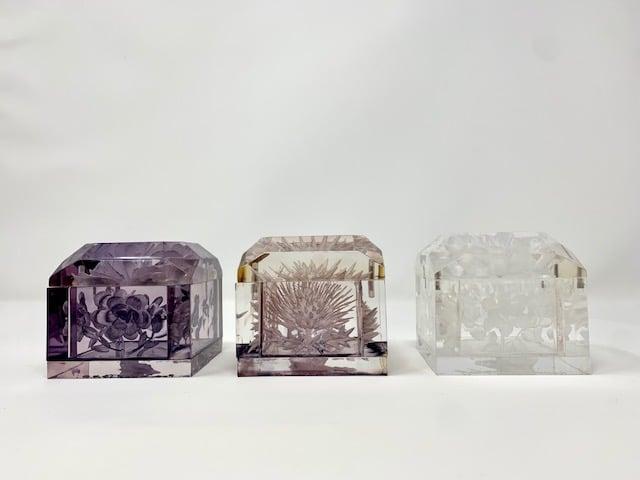 Image of Mini Lucite Boxes (Neutral Tones)