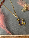 'Serpent's Tongue' pendant with dried freesias - small