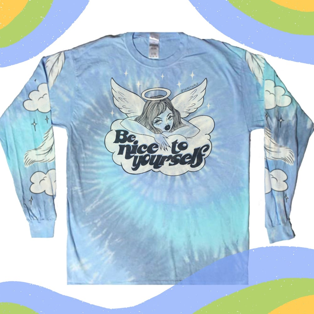 Image of BE NICE TO YOURSELF TIE-DYE TOP